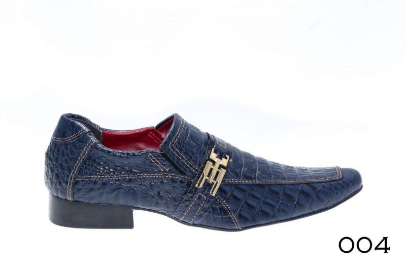004 Sapatos crocodilo azul