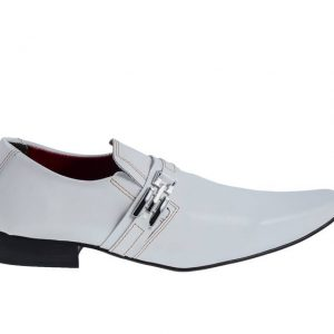 Sapatos masculino branco crocodilo social