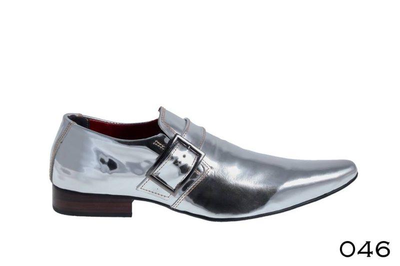 Calçado prata espelhado liso