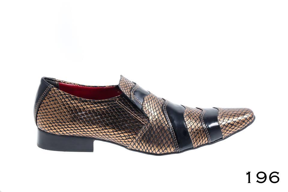 crocodilo bronze e verniz preto
