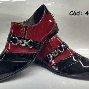 Sapatos sociais preto verniz e vermelho verniz ANZ-468
