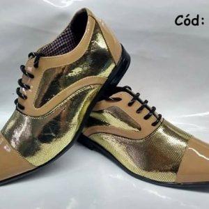 Sapatos sociais dourado com bege ANZ-471