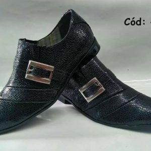 Sapatos sociais arraia preto cinza ANZ-475