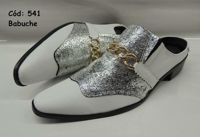 e44847b079 Babuche couro branco verniz com prata ANZ-541 – ITA Comfort