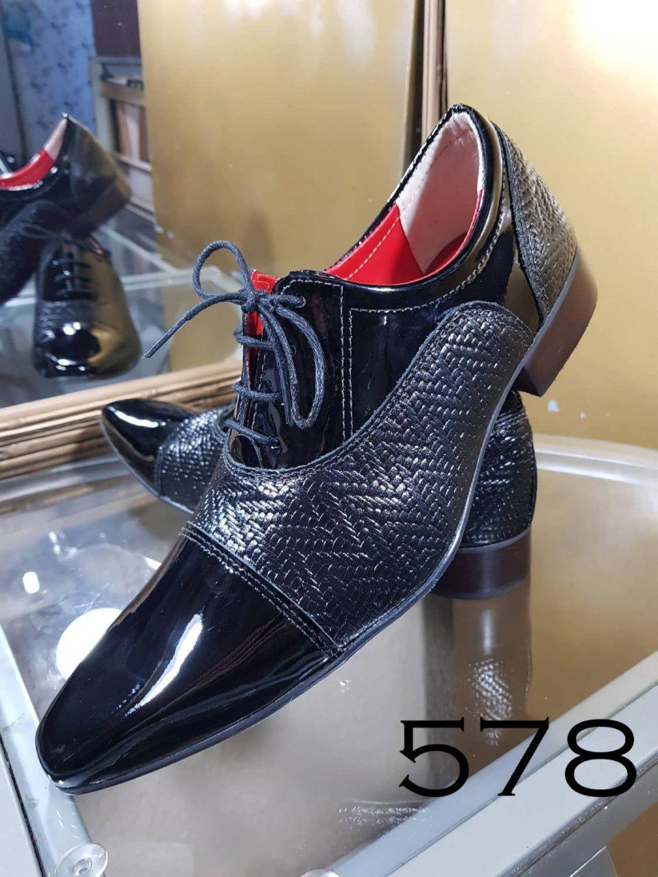 Sapatos sociais trice preto e verniz preto bico fino