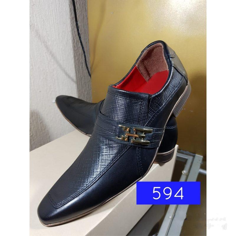 Sapatos social loock preto com bico fino