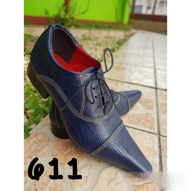 Sapatos sociais masculino cor azul escuro e bico extra fino