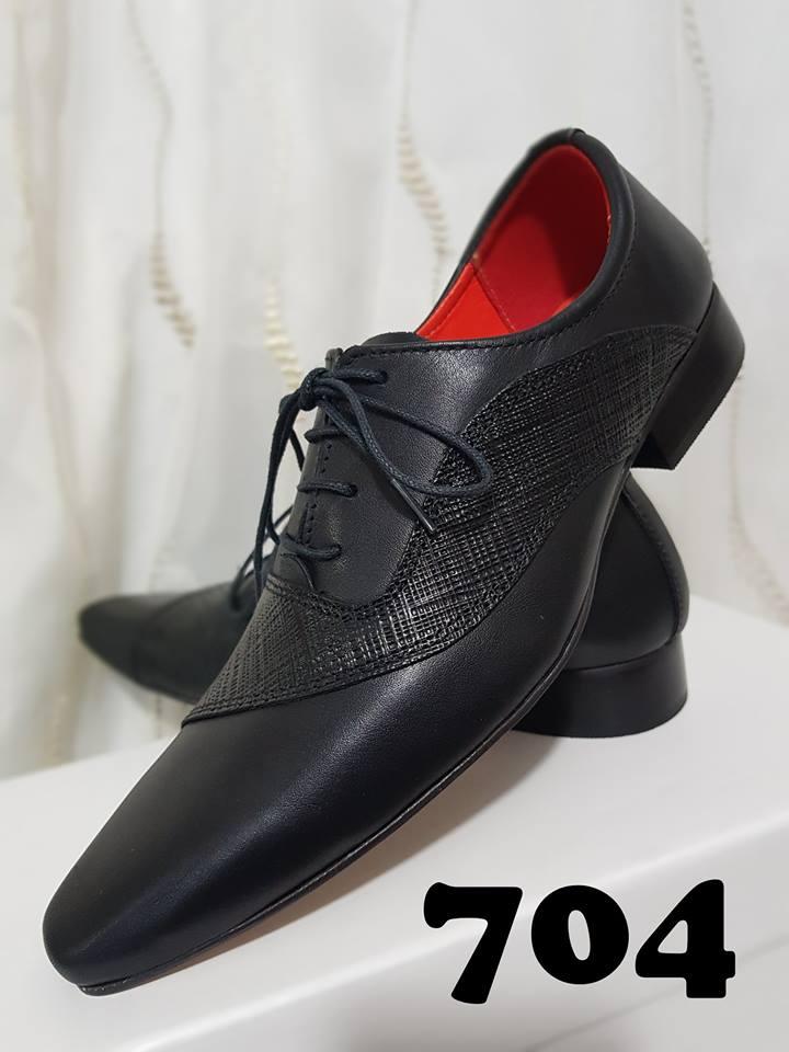 Sapatos masculino com cadarço cromo escovado preto e trice riscado preto 704