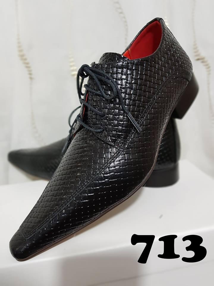 Sapatos sociais com cadarço trice preto 713