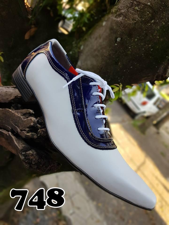 277a0ba04 Sapatos sociais com cadarços cromo branco verniz azul 748 – ITA Comfort