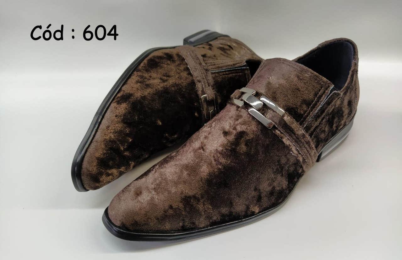 Sapatos sociais masculino em veludo marrom ANZ604