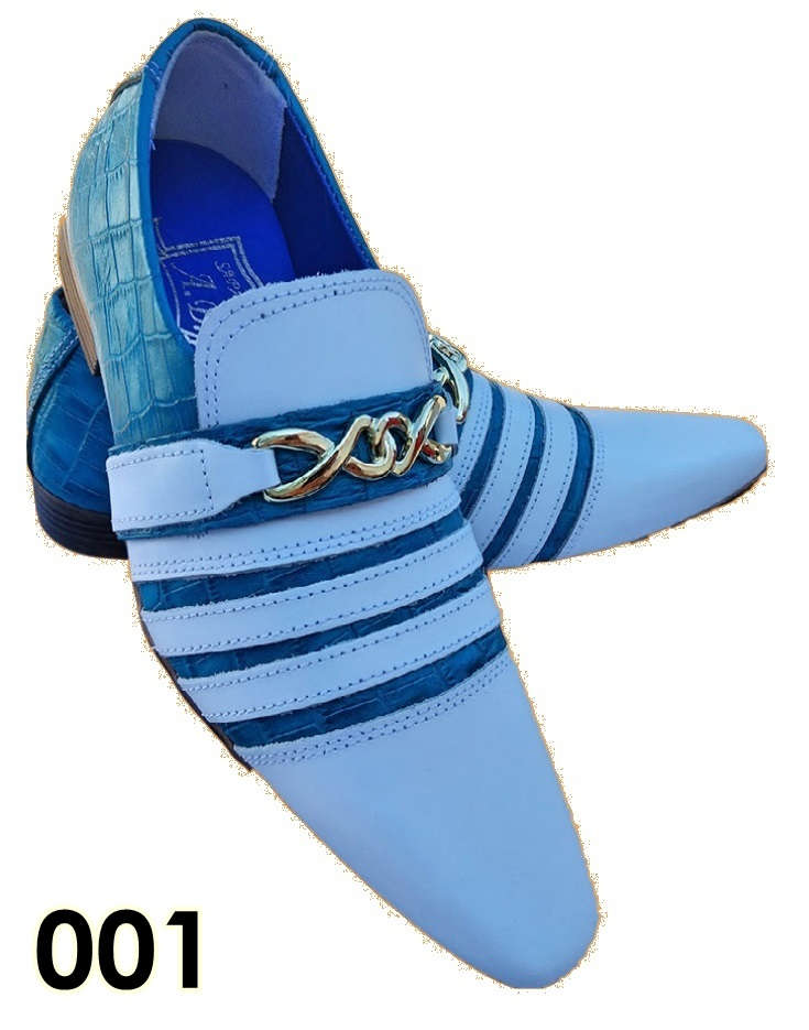 croco azul e branco verniz