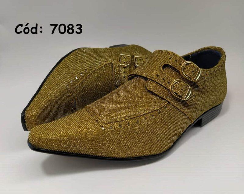 Sapatos sociais monge em couro dourado anz7083