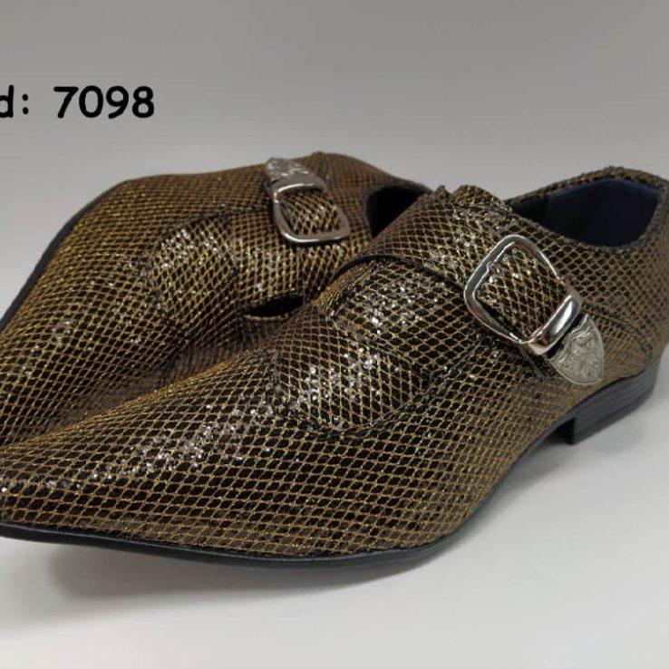 Sapatos sociais em couro de boi dourado anz7098