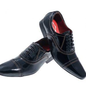 sapatos masculino verniz preto