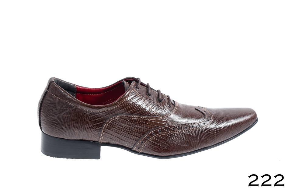 sapatos masculinos lezard marrom