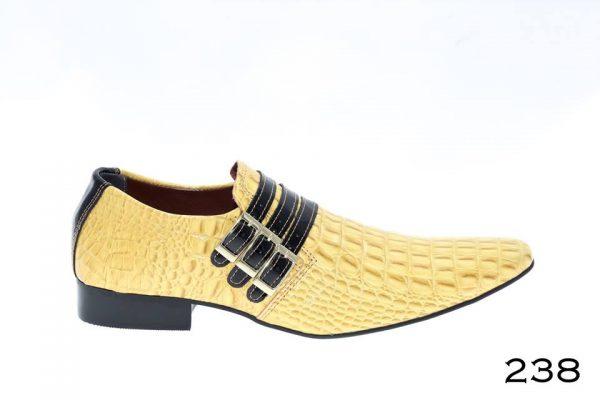 Crocodilo amarelo e detalhes em verniz preto