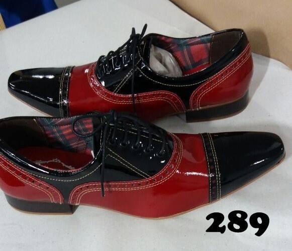 62f3091ab2 Sapato masculino verniz preto e verniz vermelho – ITA Comfort