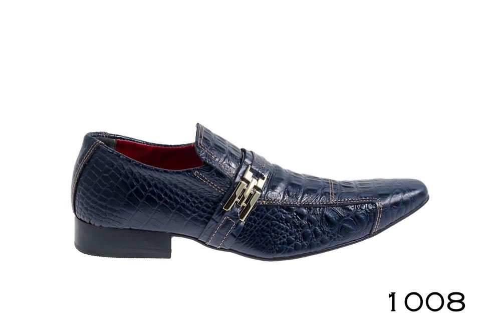 MD1008 Masculino sapatos crocodilo azul