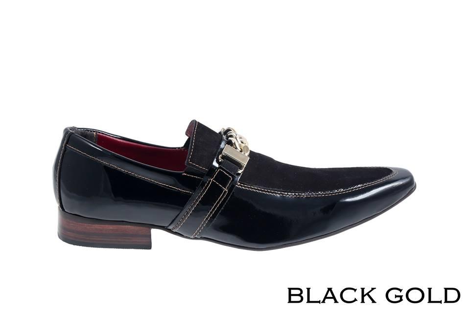 Black Gold: Verniz preto e nobuck preto